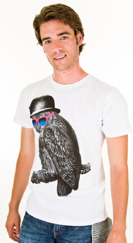 Deter Owl With Shades T-Shirt - White