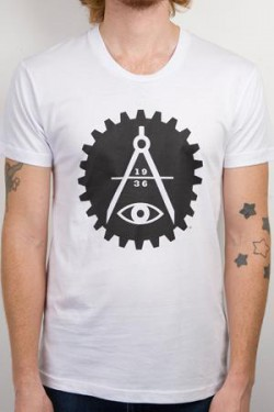 Art in the Age of Mechanical Reproduction logo t-shirt