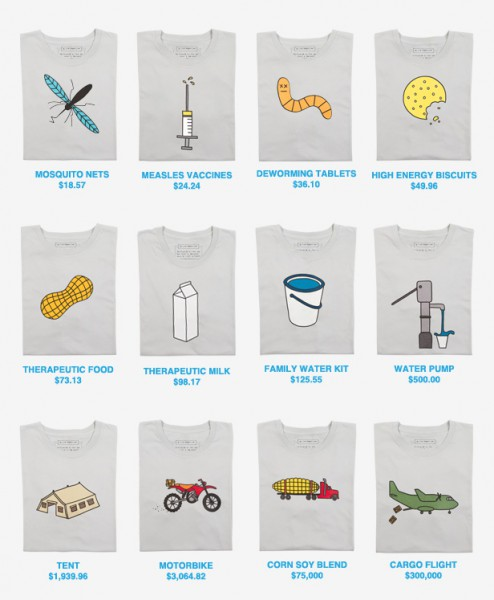 Threadless UNICEF Shirts