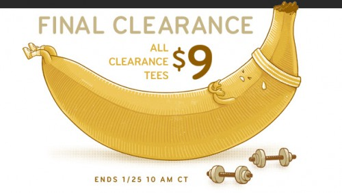 Threadless $9 Clearance Sale