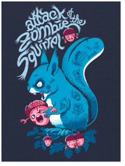 Zombie Squirrel Tee