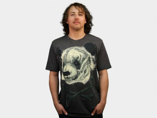 Hardcore Panda Design by Humans T-Shirt