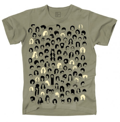 Pop Chart Lab T-Shirt Music Haircuts