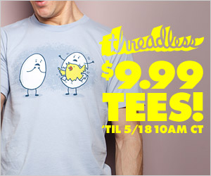Threadless $9.99 T-Shirt Sale