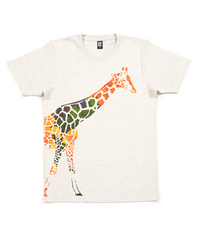 Walking Giraffe T-Shirt Graniph
