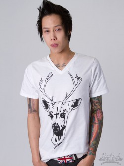 Bambi Hails Satan t-shirt DeadLeigh Clothing