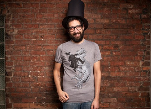 Lincoln fights dinosaurs Threadless