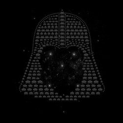 Space Invaders Darth Vader shirt