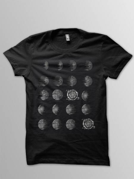 Phases of Death Star T-Shirt