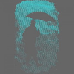 Uneetee T-Shirt Hard Rain