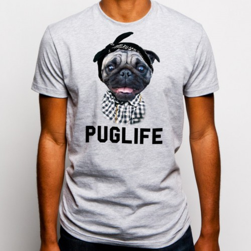 Pug LIfe T-Shirt Goodie Two Sleeves