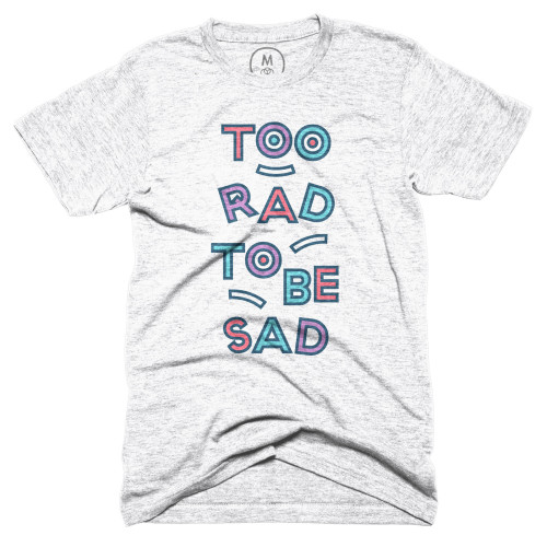 2rad 2b sad t-shirt cotton bureau meg lewis