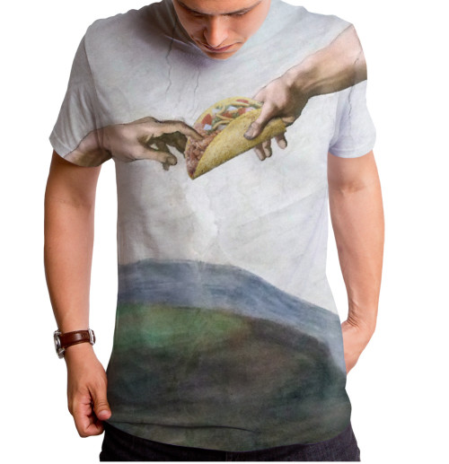 Tacos from Above T-Shirt Goodie Two Sleeves