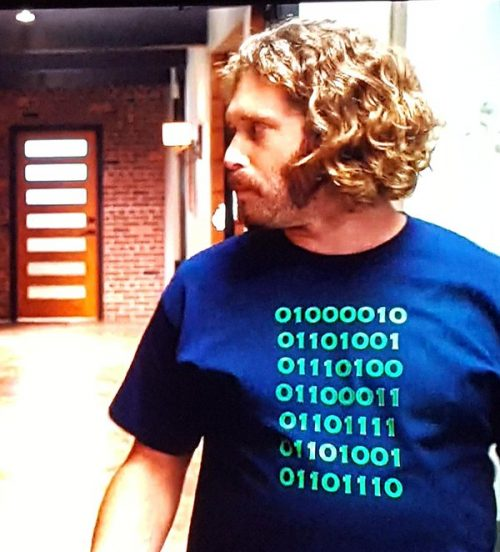 erlich bachman binary t-shirt silicon valley