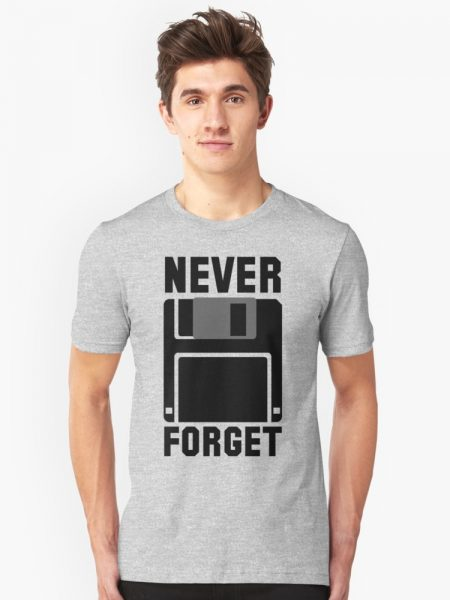 Never Forget Silicon Valley Floppy Disk T-Shirt
