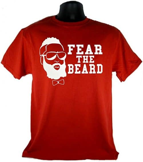 cf62fd0a266f Fear the Beard James Harden T-Shirt - T-Roundup - Discover Graphic T-Shirts