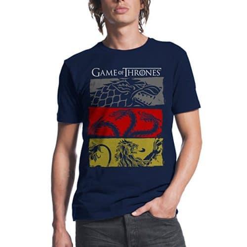 Game of Thrones Men's 3 House Symbols T-Shirt