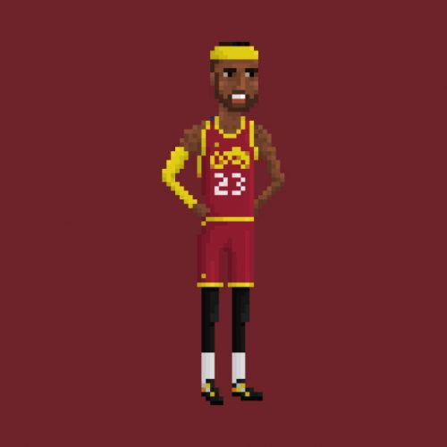Lebron James 8-bit T-Shirt