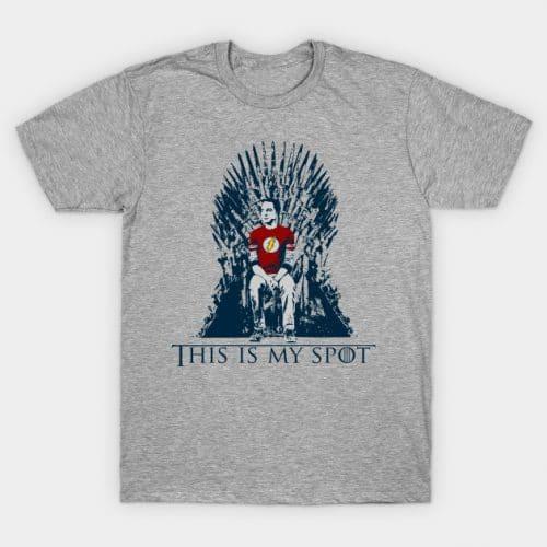 Sheldon This is My Spot Iron Throne T-Shirt