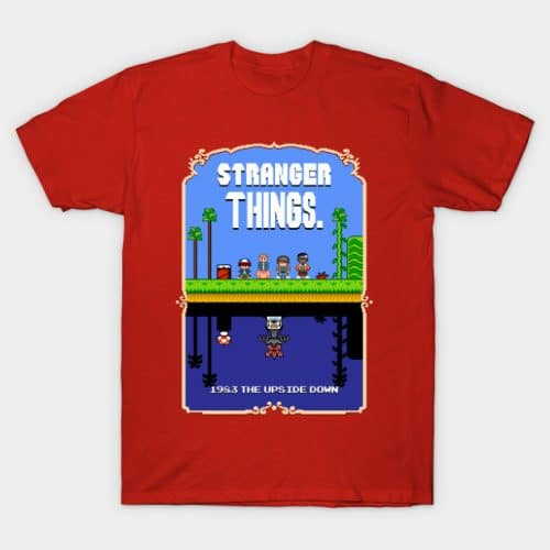 Stranger Things Mario Bros 2 Pixel Art Mashup T-Shirt