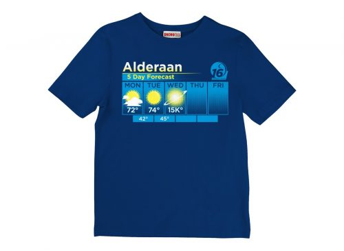 Alderaan Weather Forecast Shirt